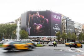 Messi, presente en Barcelona, como imagen de una campaña publicitaria