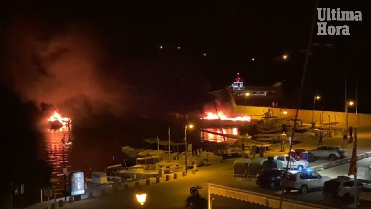 Arden tres embarcaciones en Mallorca