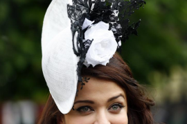 Bollywood actress Aishwarya Rai attends the first day of the Royal Ascot horse racing festival at Ascot