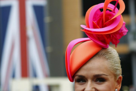 British singer Katherine Jenkins attends the first day of the Royal Ascot horse racing festival at Ascot