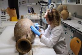 Formentera acoge una muestra sobre material arqueológico hallado en el mar al sur de la Isla