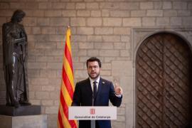 La Generalitat retira la bandera de España para la comparecencia de Aragonès