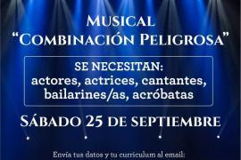 Casting el sábado 25 de septiembre para el elenco del nuevo musical 'Combinación peligrosa'
