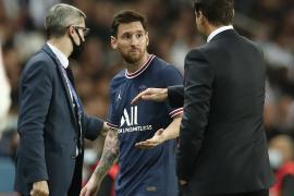 La reacción de Messi al ser sustituido en su debut en París