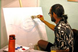 Personas sin hogar de Ibiza reflexionan a través de la pintura sobre el confinamiento
