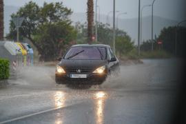 Ibiza registra precipitaciones con «intensidad torrencial» en la zona del aeropuerto
