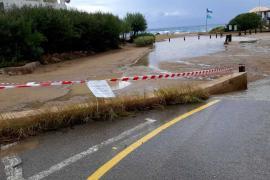 Cerrados los aparcamientos de Cala Llenya, Cala Nova y es Figueral por el temporal