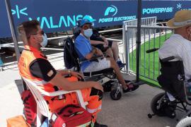 Quejas por la ubicación en Can Misses de los aficionados en silla de ruedas
