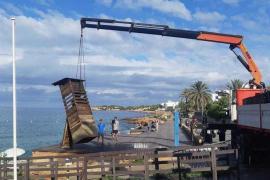 Nuevas torres de vigilancia en Cala Salada y Cala Saladeta