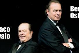 Los actores Paco Arévalo y Bertín Osborne en Mellizos, teatro