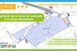 Los coches ya no podrán ocupar la plaza de Quadrado desde el miércoles