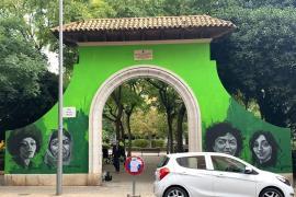 ARCA denuncia que la puerta del parque de Ses Veles «no es un lienzo»