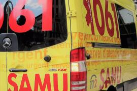 Herido de gravedad un motorista tras una caída en la carretera en Mallorca