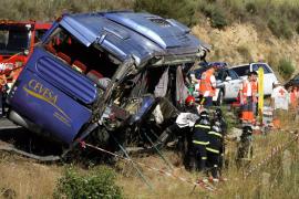 Las imágenes del trágico accidente de autobús en Ávila
