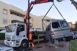 Aparatoso accidente en Puig d'en Valls