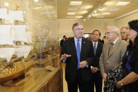 Exposición de maquetas de barcos en el Museo de Modelismo Naval: Julio Castelo Matrán