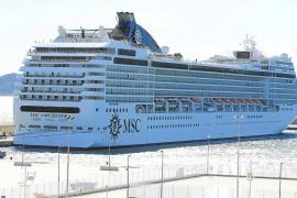 La llegada de cruceristas a las Pitiüses cayó casi un 20% en el primer semestre hasta los 66.142 viajeros