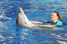 Melani Costa cumple su sueño de nadar entre delfines