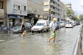 Una hora de lluvia saca a flote la peor cara de Vila