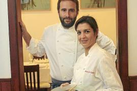 María José Calabria y Alberto Serrano, cocineros del restaurante Casa Maruka