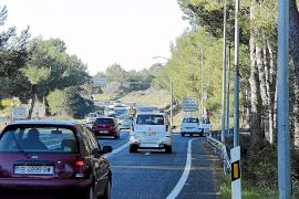 Dos de los cinco puntos negros de las Pitiüses continúan en la carretera de Santa Eulària