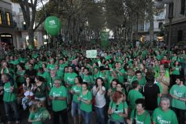 Manifestación contra la LOMQE y TIL en el 24O en Palma