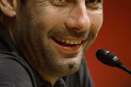 Pep Guardiola, entrenador del F.C. Barcelona.