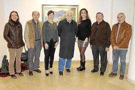 Inauguración de una nueva exposición en Galería Vanrell con obra de Mateu Llobera.