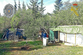Desmantelado un campamento ilegal cerca de Cala Gració