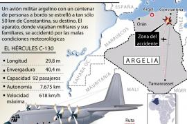 Más de un centenar de muertos en un accidente aéreo en Argelia