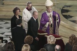 Los Reyes presiden el funeral del 11M