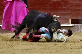 Enrique Ponce sufre una aparatosa cogida en Valencia