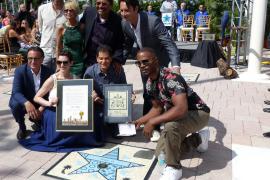 Los actores Andy García y Jamie Foxx inauguran el 'Paseo de la Fama' de Miami