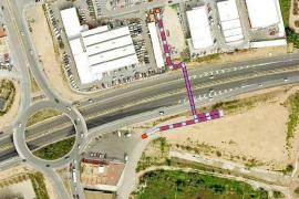 El Govern construirá una rotonda de acceso al aeropuerto desde la carretera de Sant Josep