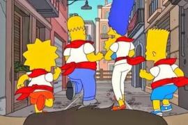 Los Simpson corren los Sanfermines