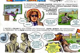 Polémica por un cómic repartido por la Assemblea de Docents y Crida