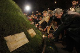 El presidente ucraniano llama a la unidad en el 28 aniversario de Chernóbil