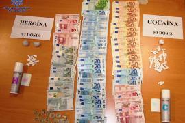Dos detenidos en sa Penya por tráfico de drogas