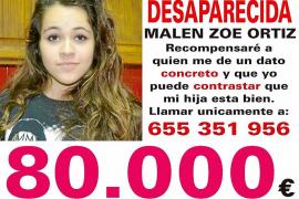 El padre de Malén Ortiz sube a 80.000 euros la recompensa por alguna pista