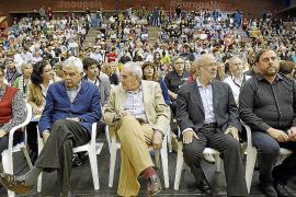 Pasqual Maragall apoya a ERC en su mitin central de campaña electoral