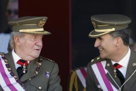 Juan Carlos y Felipe de Borbón.