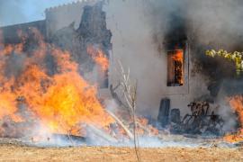 Tareas de extinción del incendio