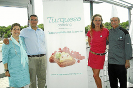 presentación turquesa catering