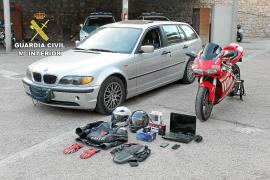 Detenido por robar un coche, una moto y otros objetos por toda la Isla