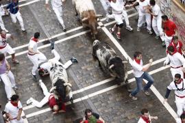 Dos heridos graves en el encierro del día de San Fermín
