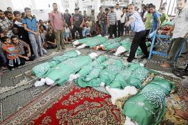 Más de medio millar de palestinos han muerto desde el inicio de las operaciones en Gaza