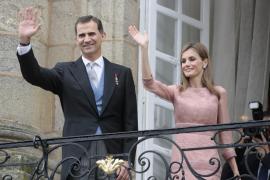 Felipe y Letizia en Santiago el pasado viernes.