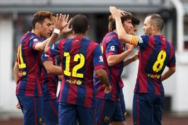 El Barcelona se da un atracón de goles ante un débil Helsinki