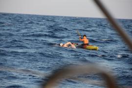 El Mediterráneo trunca el reto de Jaime Caballero, pero no su afán solidario