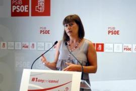 Armengol: «Es necesario limpiar las instituciones balears de la corrupción política»